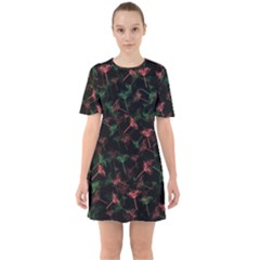 Seed Pods Sixties Short Sleeve Mini Dress by treegold