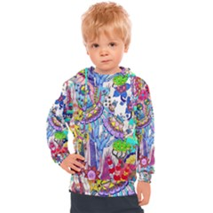 Mountain Abstract Kids  Hooded Pullover