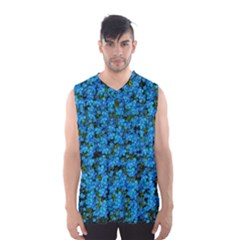 Blue Sakura Forest  Tree So Meditative And Calm Men s Basketball Tank Top