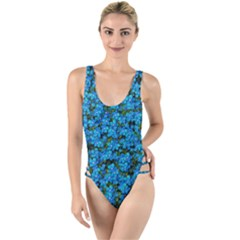 Blue Sakura Forest  Tree So Meditative And Calm High Leg Strappy Swimsuit