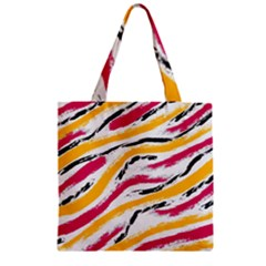 Painted Shades Zipper Grocery Tote Bag
