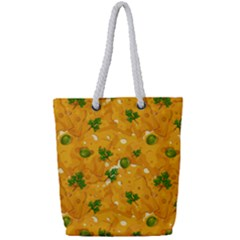 When Cheese Is Love Full Print Rope Handle Tote (small)