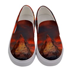 Switzerland Zermatt Mountains Snow Women s Canvas Slip Ons