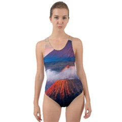 Bromo Tengger Semeru National Park Indonesia Cut-out Back One Piece Swimsuit