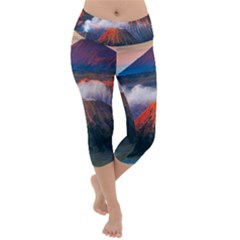 Bromo Tengger Semeru National Park Indonesia Lightweight Velour Capri Yoga Leggings