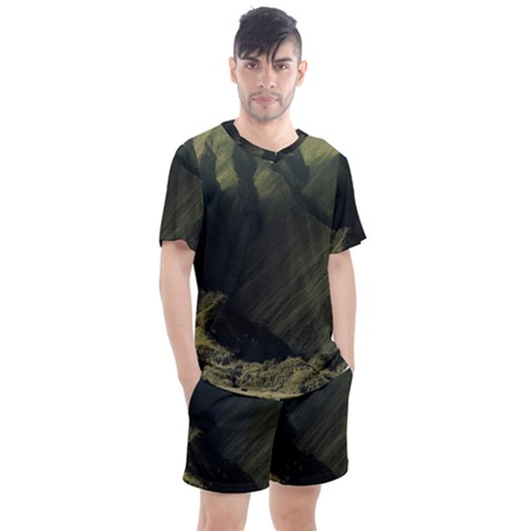 Landscape-bromo-indonesia-nature Men s Mesh Tee And Shorts Set by Bejoart