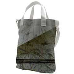 Map-navigation-orientation-drawing-geography Canvas Messenger Bag