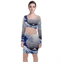 Image-woodblock-printing-woodcut Top And Skirt Sets