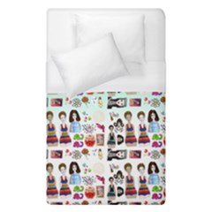 Kawaii Collage Green Ombre Duvet Cover (single Size) by snowwhitegirl