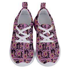 60s Girl Floral Pink Running Shoes by snowwhitegirl