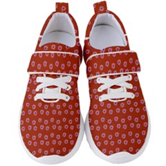 Peach Purple Daisy Flower Red Women s Velcro Strap Shoes