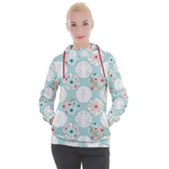Floral Work Women s Hooded Pullover