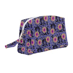 60s Girl Floral Blue Wristlet Pouch Bag (medium) by snowwhitegirl