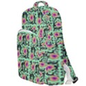 60s Girl Floral Green Double Compartment Backpack View1