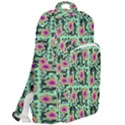 60s Girl Floral Green Double Compartment Backpack View2