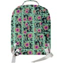 60s Girl Floral Green Double Compartment Backpack View3