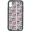 60s Girl Floral White iPhone X/XS Soft Bumper UV Case View2