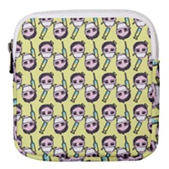 Doctor Pattern Mini Square Pouch by snowwhitegirl
