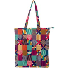 Geometric Mosaic Double Zip Up Tote Bag by designsbymallika