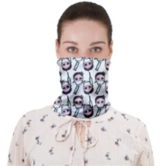 Doctor Pattern White Face Covering Bandana (adult)