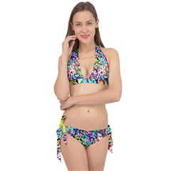Colorful Paint Texture                                                    Tie It Up Bikini Set by LalyLauraFLM