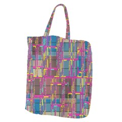 Colorful Shapes Texture                                               Giant Grocery Zipper Tote