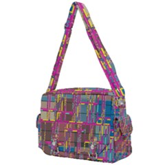 Colorful Shapes Texture                                                Buckle Multifunction Bag by LalyLauraFLM
