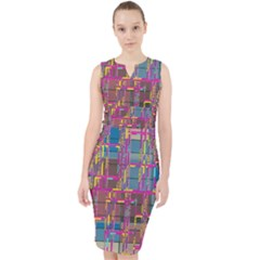 Colorful Shapes Texture                                                     Midi Bodycon Dress