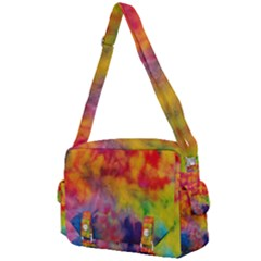 Colorful Watercolors Texture                                                 Buckle Multifunction Bag by LalyLauraFLM