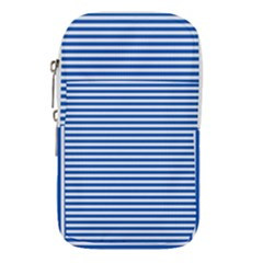 Classic Marine Stripes Pattern, Retro Stylised Striped Theme Waist Pouch (small) by Casemiro