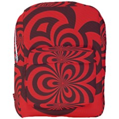 Spiral Abstraction Red, Abstract Curves Pattern, Mandala Style Full Print Backpack by Casemiro