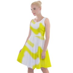 Golden Yellow Rose Knee Length Skater Dress