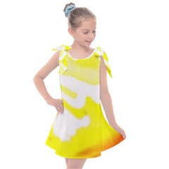 Golden Yellow Rose Kids  Tie Up Tunic Dress
