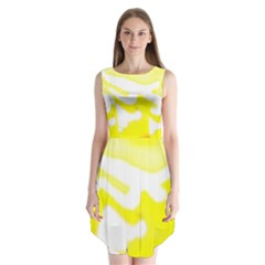 Golden Yellow Rose Sleeveless Chiffon Dress