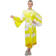 Golden Yellow Rose Maxi Velour Kimono by Janetaudreywilson