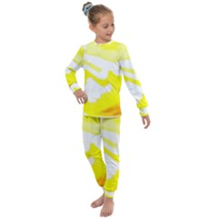 Golden Yellow Rose Kids  Long Sleeve Set