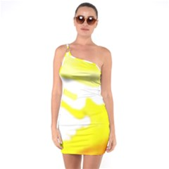 Golden Yellow Rose One Soulder Bodycon Dress