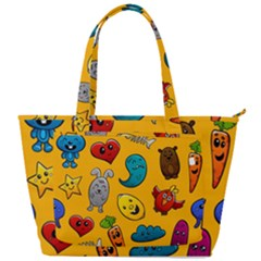 Graffiti Characters Seamless Ornament Back Pocket Shoulder Bag  by Amaryn4rt