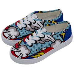 Rays Smoke Pop Art Style Vector Illustration Kids  Classic Low Top Sneakers by Amaryn4rt