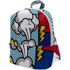Rays Smoke Pop Art Style Vector Illustration Zip Up Backpack