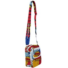 Pow Word Pop Art Style Expression Vector Shoulder Strap Belt Bag by Amaryn4rt