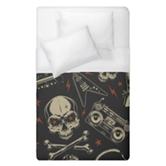 Grunge Seamless Pattern With Skulls Duvet Cover (single Size) by Amaryn4rt