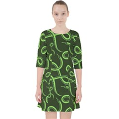 Snakes Seamless Pattern Pocket Dress
