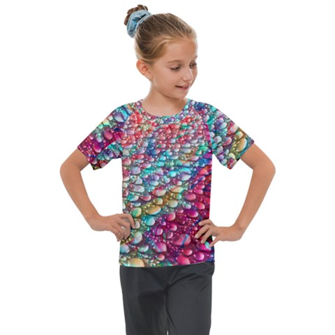 Rainbow Support Group  Kids  Mesh Piece Tee by ScottFreeArt
