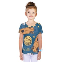 Missile Pattern Kids  One Piece Tee