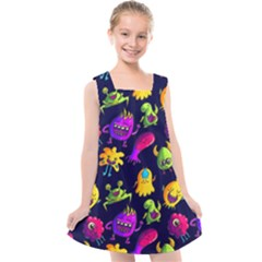 Space Patterns Kids  Cross Back Dress by Amaryn4rt