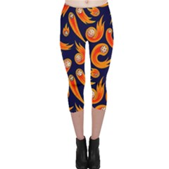 Space Patterns Pattern Capri Leggings