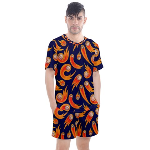 Space Patterns Pattern Men s Mesh Tee And Shorts Set by Amaryn4rt
