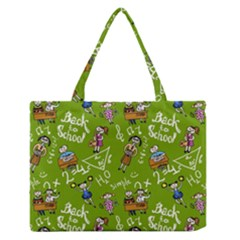 Seamless Pattern With Kids Zipper Medium Tote Bag