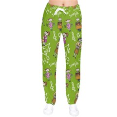 Seamless Pattern With Kids Women Velvet Drawstring Pants by Amaryn4rt